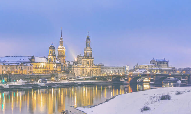 Firmenevent Dinner und Wein Dresden Elbe Panorama
